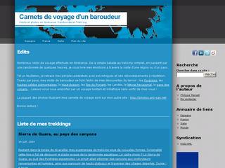 Réalisation web : Carnets de voyage