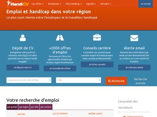 Réalisation web : Handi-cv.com (emploi + handicap)