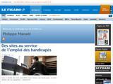 Profil presse de Philippe Manaël (Handi-cv.com) sur LeFigaro.fr